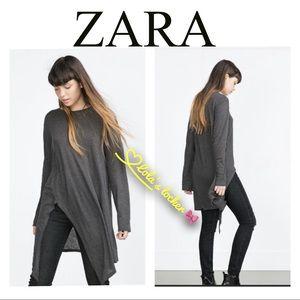 ZARA Long Sleeve Tunic Top